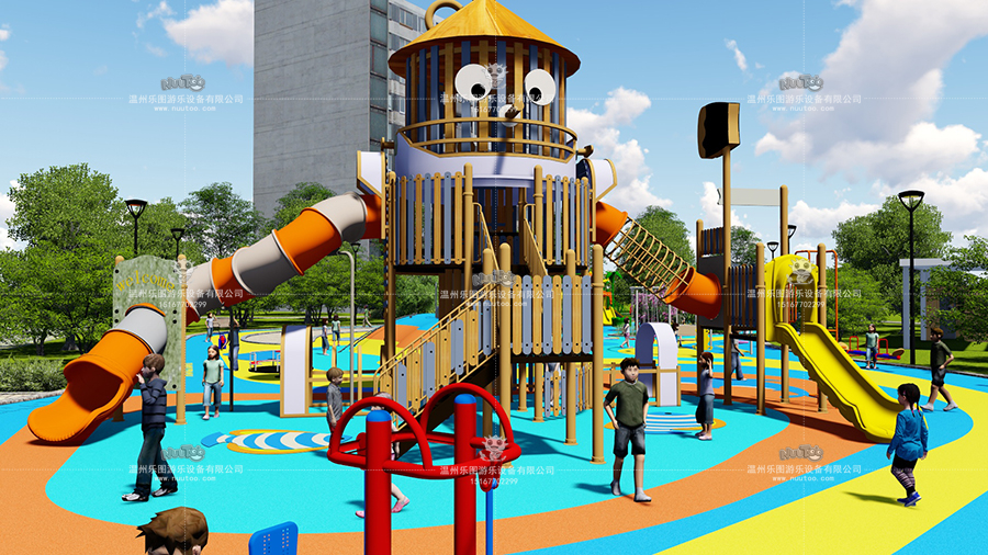 非標戶外游樂設備+兒童游樂設備廠--(4)