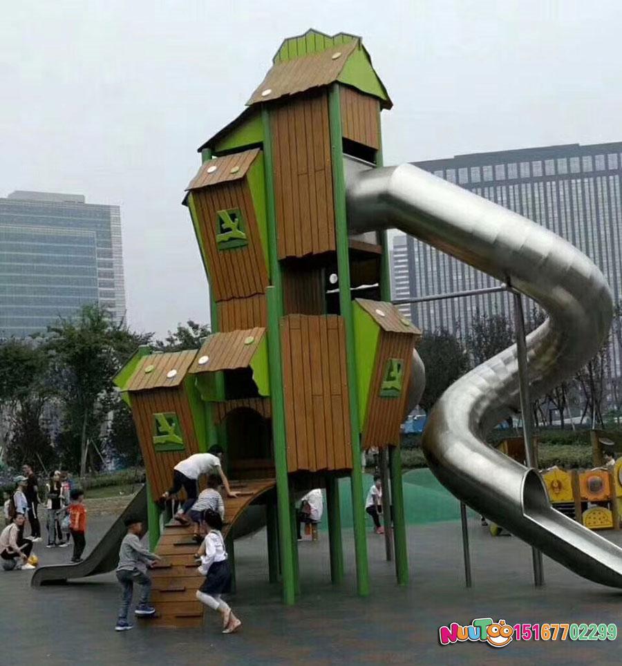 乐图非标游乐+幼儿组合滑梯+游乐场滑梯-(2)
