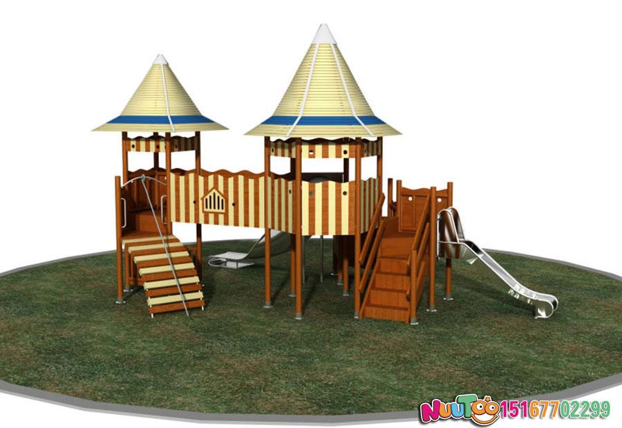 乐图非标游乐+原木滑梯+组合滑梯+儿童乐园-(5)