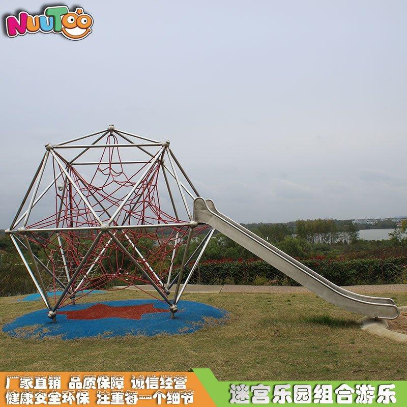 空中步道戶外繩網攀爬_樂圖非標游樂