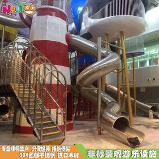 水立方大型組合滑梯報價價格_樂圖非標游樂