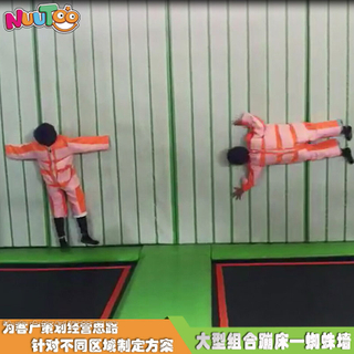 網紅粘粘墻 蹦床公園游樂設備生產廠家LT-BC006