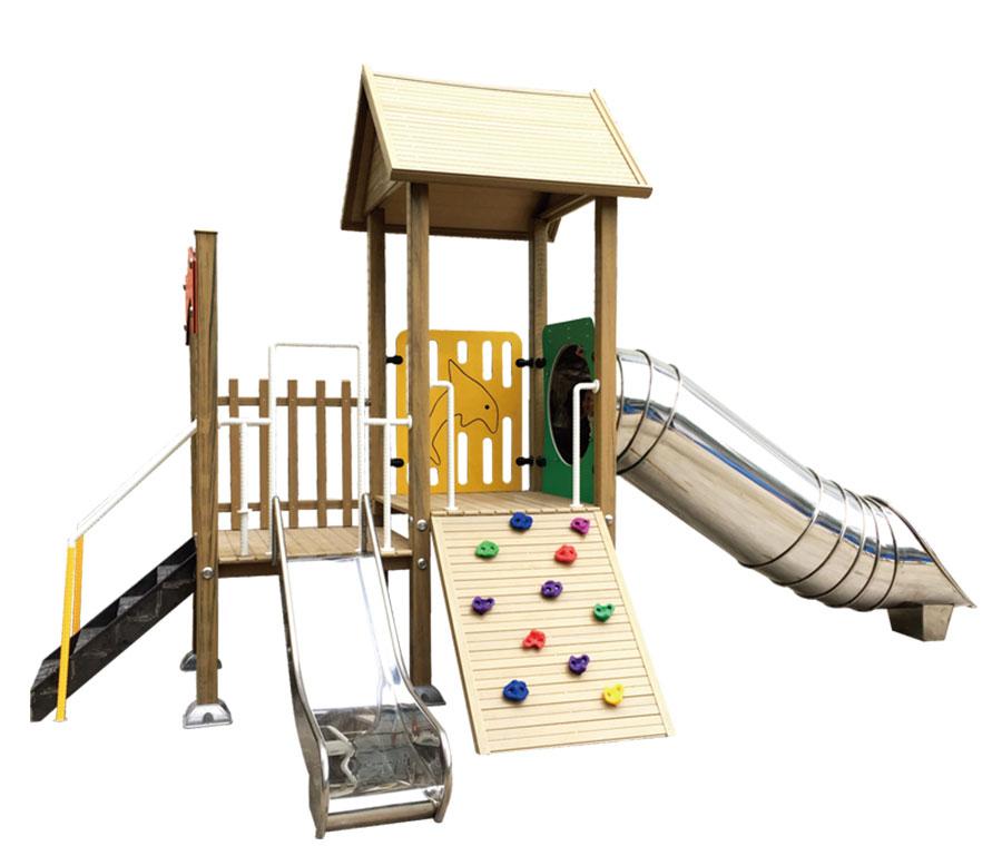 组合滑梯+游乐设备+小博士+滑梯+原木滑梯+不锈钢组合滑梯41