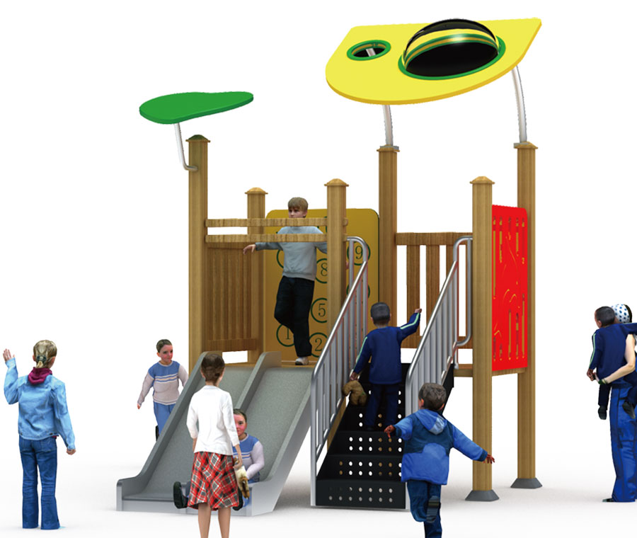 组合滑梯+游乐设备+小博士+滑梯+原木滑梯+不锈钢组合滑梯31