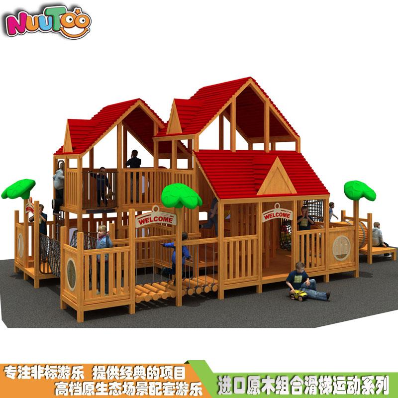 组合滑梯+实木组合滑梯+木质组合滑梯+无动力游乐设施-14