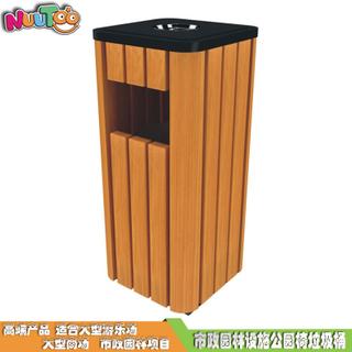 實木垃圾桶市政園林設施廠家_樂圖游樂