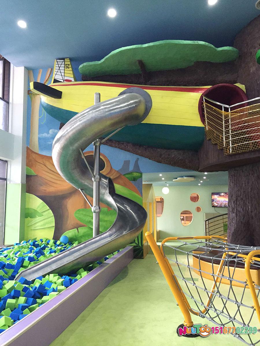 乐图非标游乐+不锈钢滑梯+室内游乐场-(5)