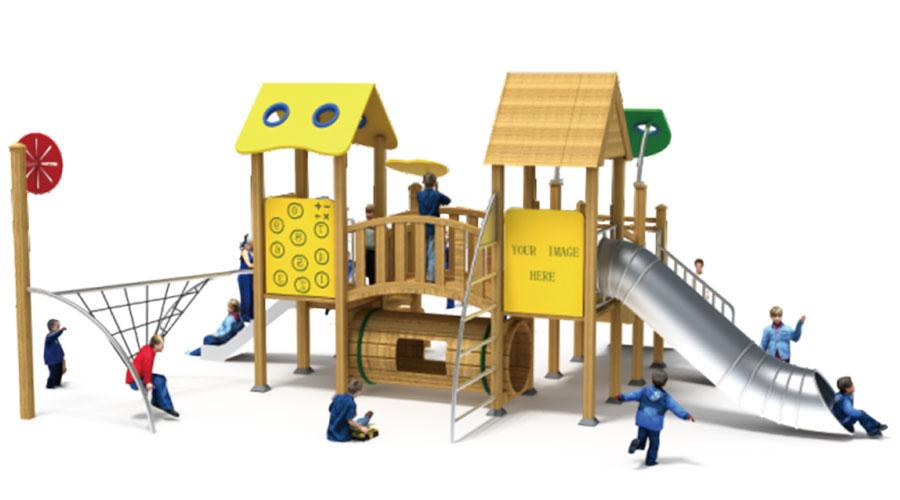 组合滑梯+游乐设备+小博士+滑梯+原木滑梯+不锈钢组合滑梯35