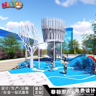 非動力戶外游樂設備 無動力兒童游樂設備廠家供應_樂圖非標游樂設備