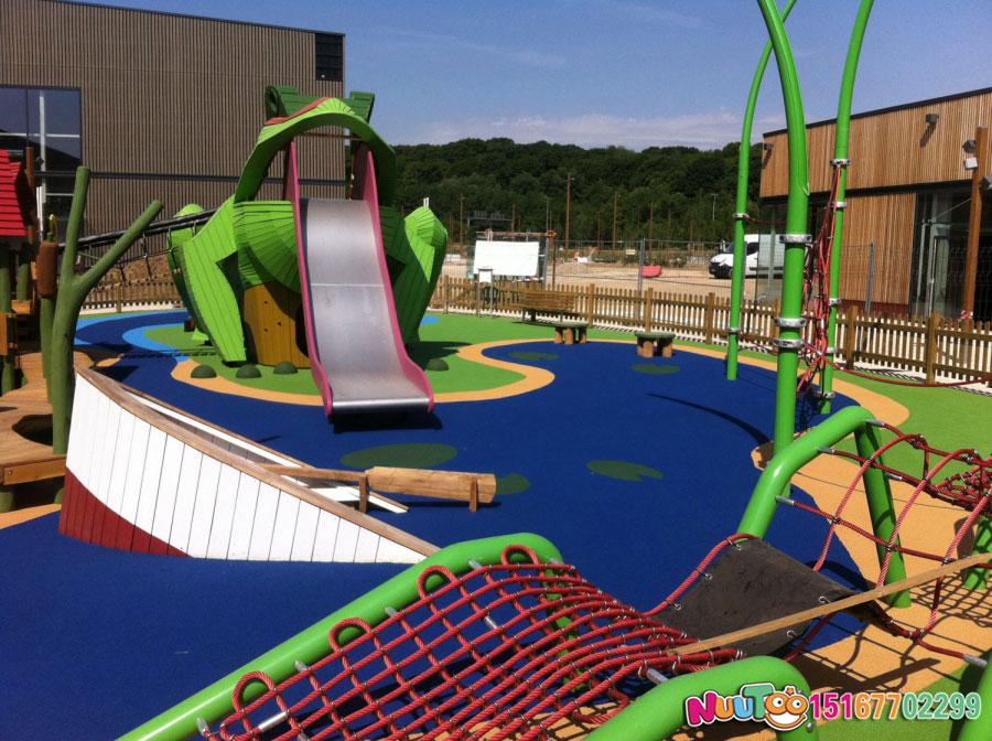 非标游乐+青蛙组合乐园+滑滑梯+儿童游乐设施 (2)