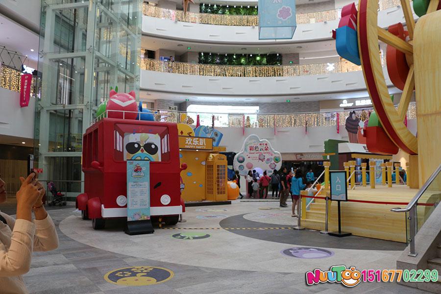 乐图非标游乐+北京枫蓝国际购物中心+不锈钢半圆滑梯-(21)
