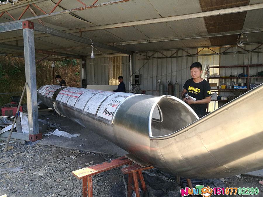 乐图非标游乐+不锈钢滑梯+上海市虹口区溧阳路111案例-(3)