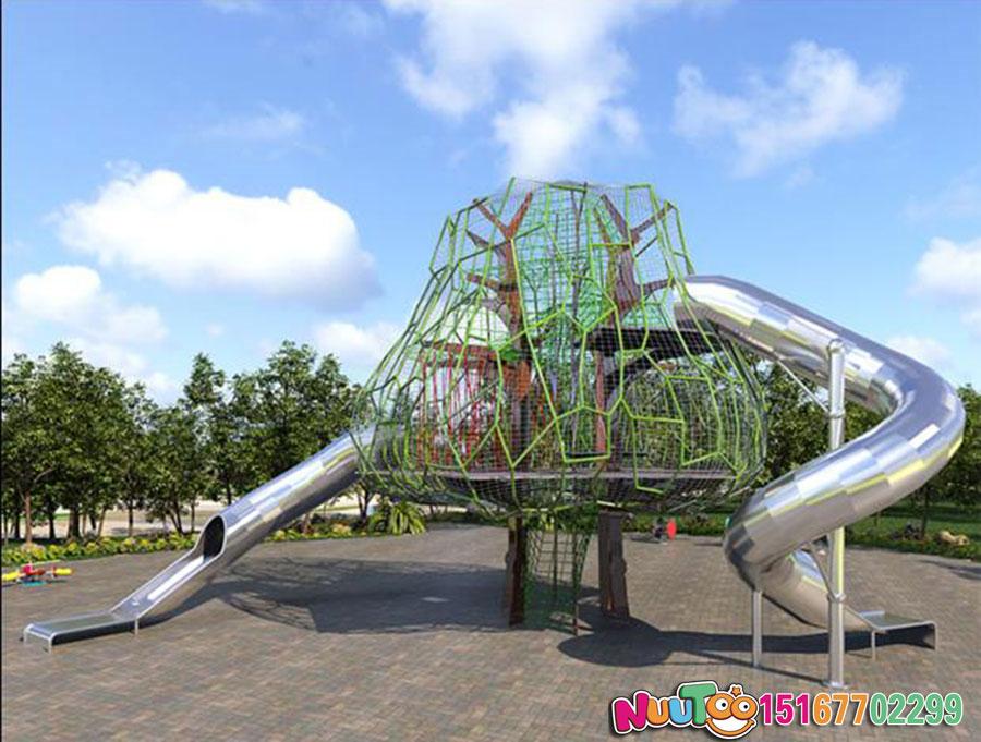 非标游乐+榕树组合滑梯+不锈钢滑梯厂家 (10)