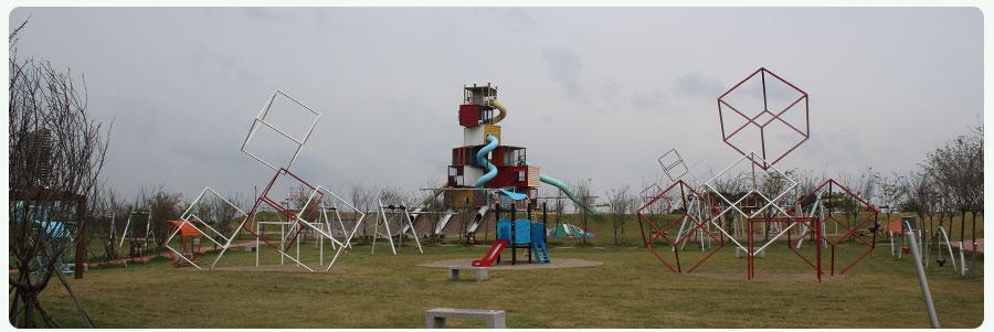 红山体育公园+非标游乐项目+组合滑梯_01