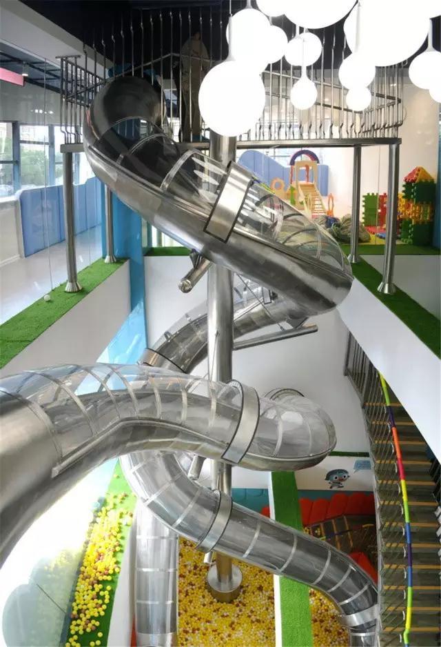 不锈钢滑滑梯+非标定制+组合滑梯