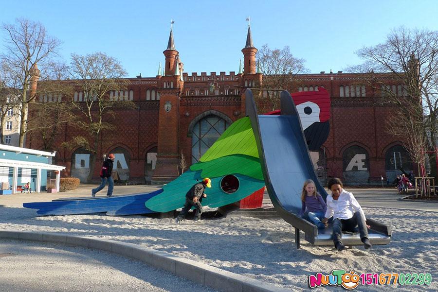 儿童乐园设备+鹦鹉滑梯+国外游乐案例 (8)