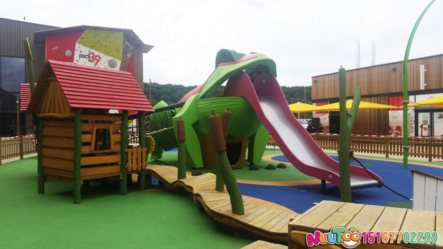 非标游乐+青蛙组合乐园+滑滑梯+儿童游乐设施 (5)