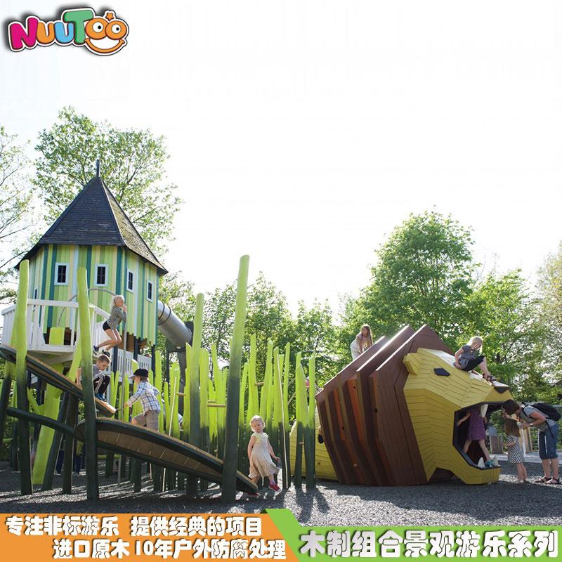 狮子组合游乐+景观游乐设施+园林游乐设备+儿童游乐设施+非标游乐-组合滑梯-1