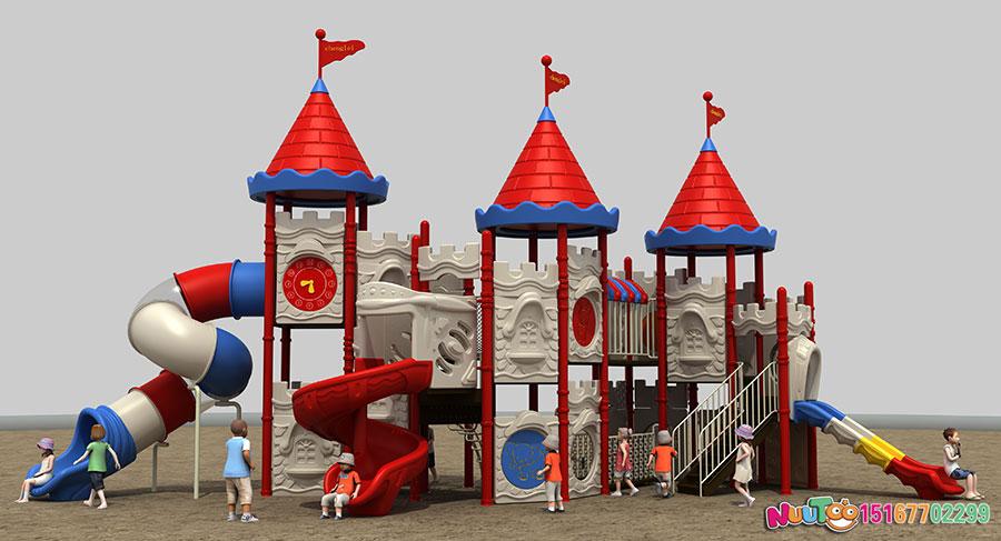 组合滑梯+儿童游乐设备+小博士+长城 (1)