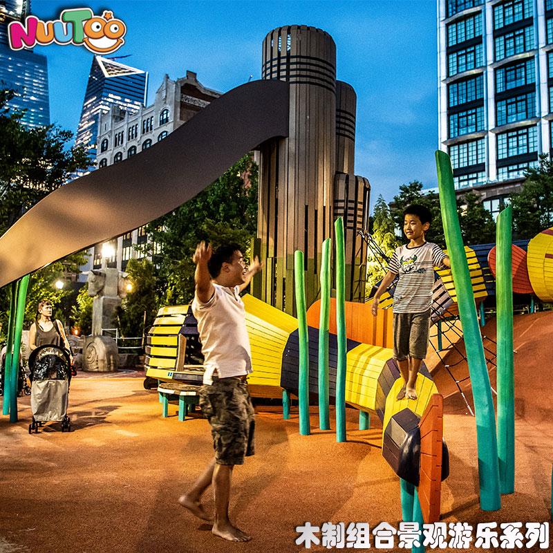 植物僵尸组合游乐+景观游乐设施+园林游乐设备+儿童游乐设施+非标游乐-组合滑梯-7