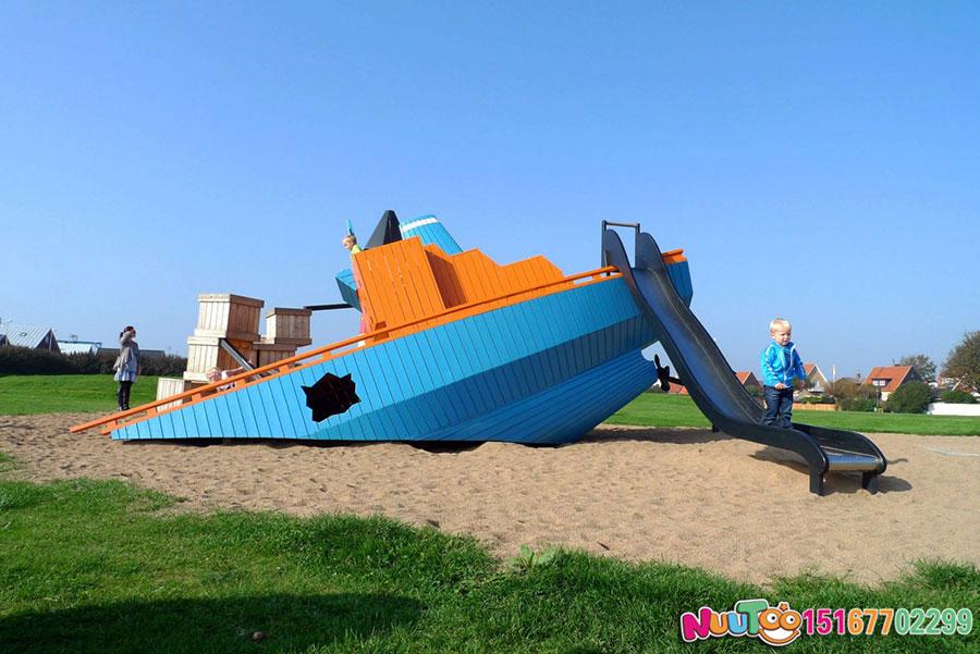 海盗船游乐项目+海盗船游乐设备厂家+组合滑梯+儿童游乐设施-(5)