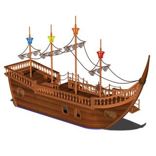 上海城小區海盜船游樂設施_樂圖非標游樂