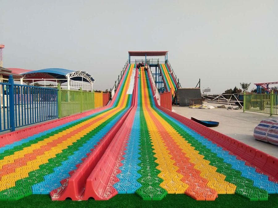 旱雪滑梯+彩虹滑梯 (3)