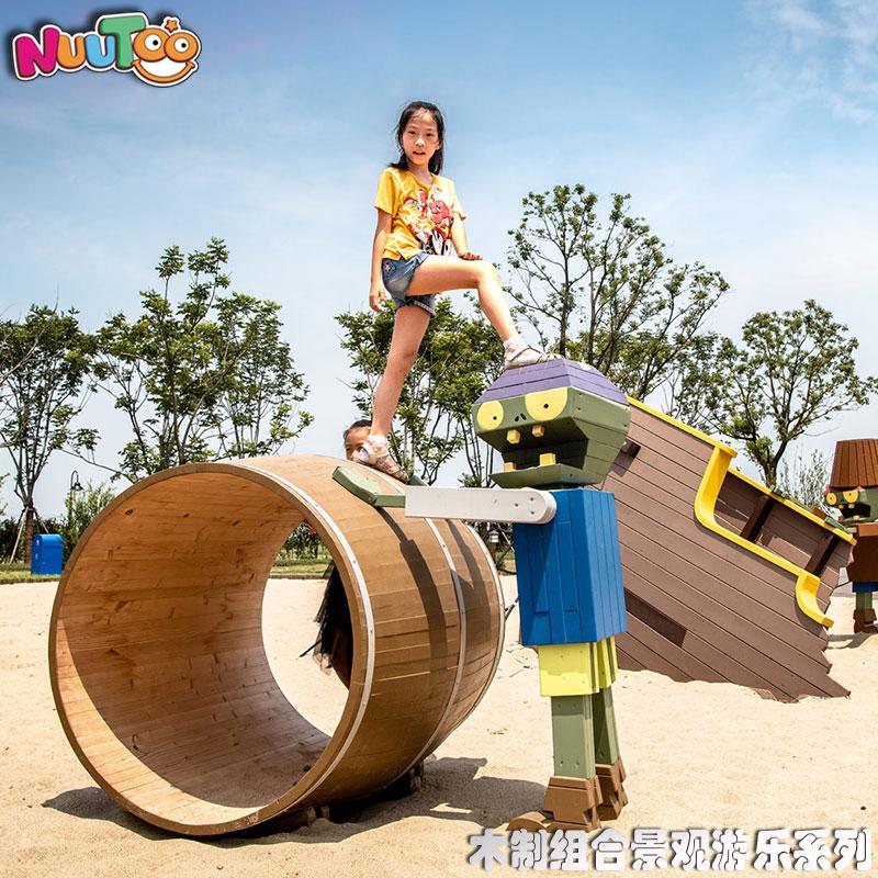 植物僵尸组合游乐+景观游乐设施+园林游乐设备+儿童游乐设施+非标游乐-组合滑梯-6