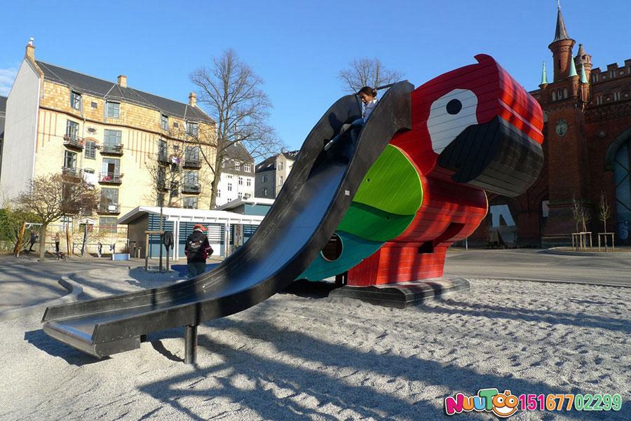 儿童乐园设备+鹦鹉滑梯+国外游乐案例 (7)