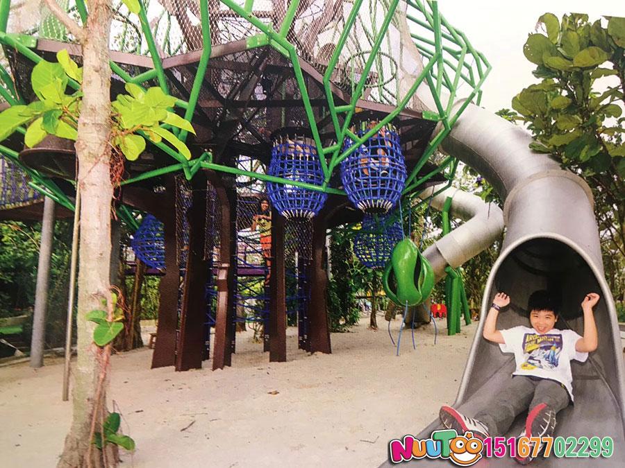 非标游乐+榕树组合滑梯+不锈钢滑梯厂家 (13)