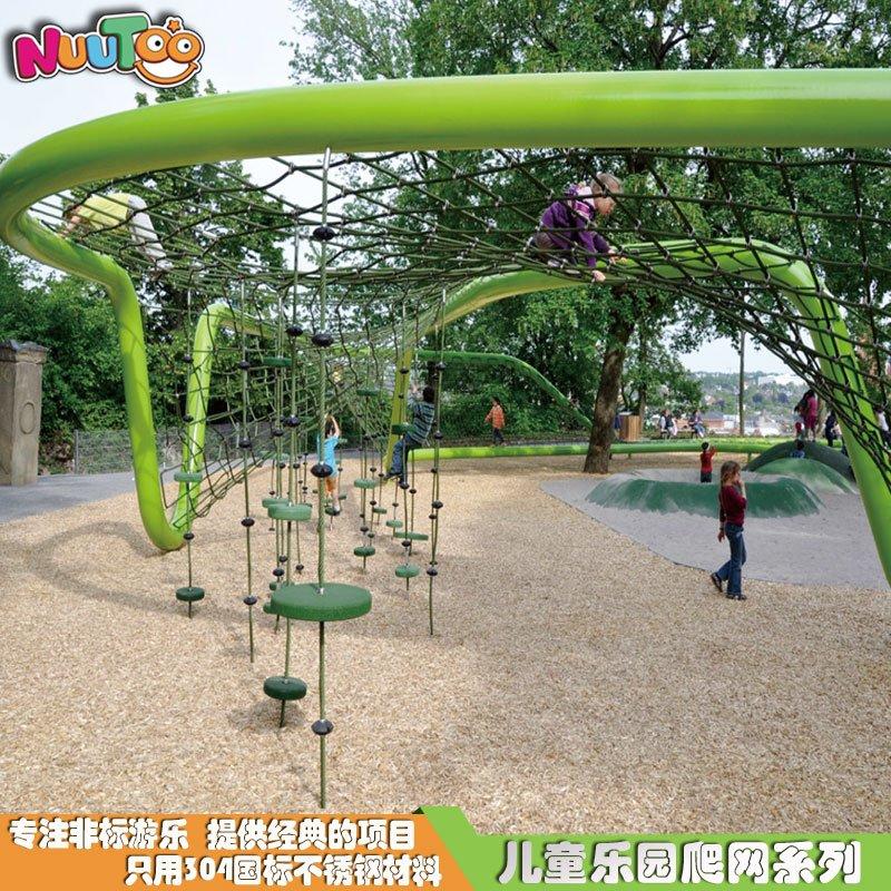 蜘蛛挑戰戶外繩網攀爬_樂圖非標游樂