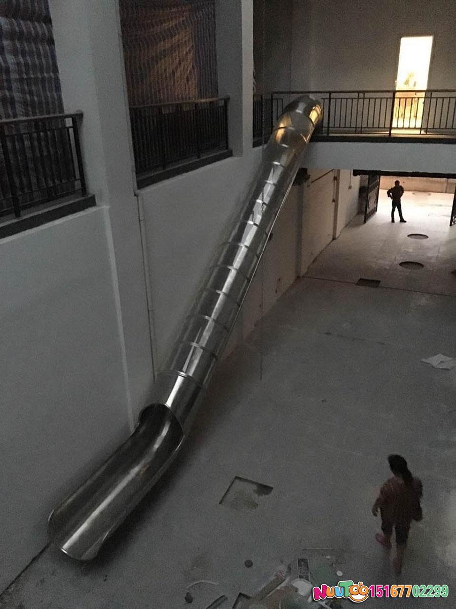 乐图非标游乐+不锈钢滑梯+上海市虹口区溧阳路111案例-(9)