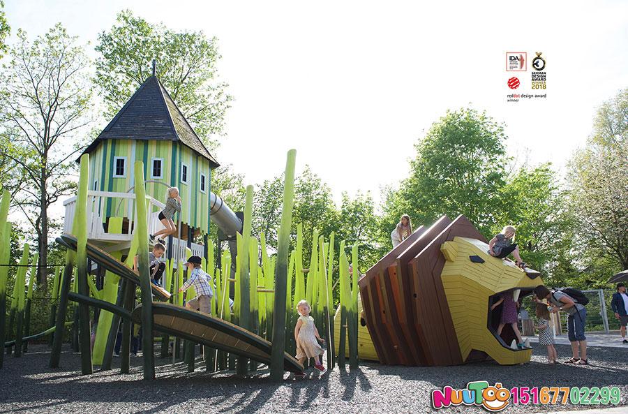 狮子组合乐园+游乐设施+组合游乐设施+组合滑梯+大型游乐设备+儿童游乐设备-(19)
