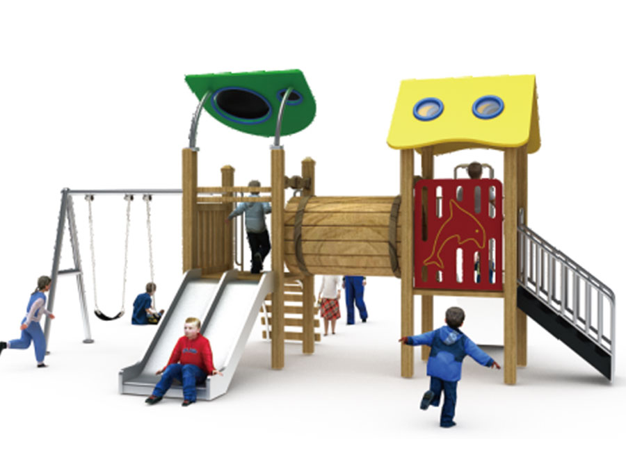 组合滑梯+游乐设备+小博士+滑梯+原木滑梯+不锈钢组合滑梯38