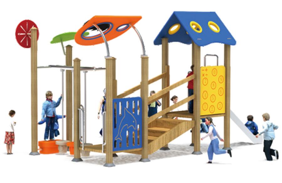 组合滑梯+游乐设备+小博士+滑梯+原木滑梯+不锈钢组合滑梯29