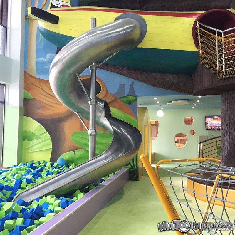 不锈钢滑梯+儿童滑梯+组合滑梯+山坡钻洞+木质滑梯17